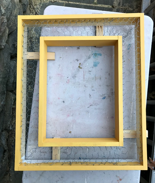 how to make a vertical succulent garden frame