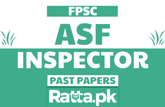 FPSC ASF Inspector Past Papers Solved pdf