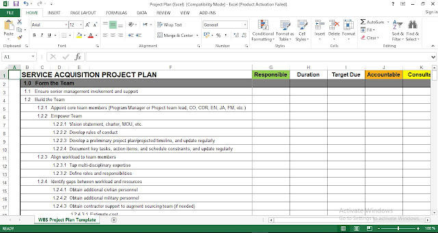Project Plan Excel Template