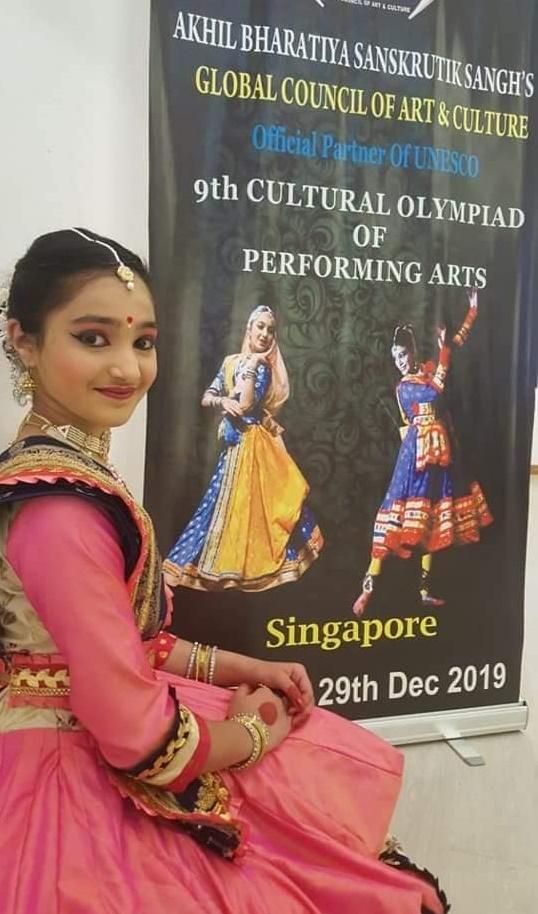 थांदला की इशानी ने सिंगापुर में जीता गोल्ड मेडल