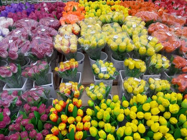 El mercado de las Flores en Ámsterdam