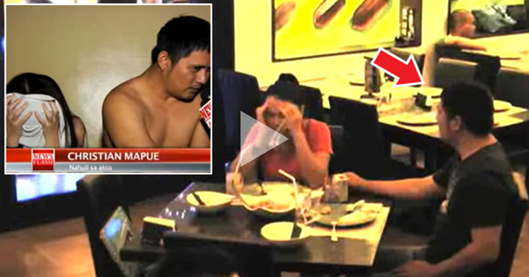 Wife saw her Husband in a newsflash while in a restaurant, how she reacted was epic