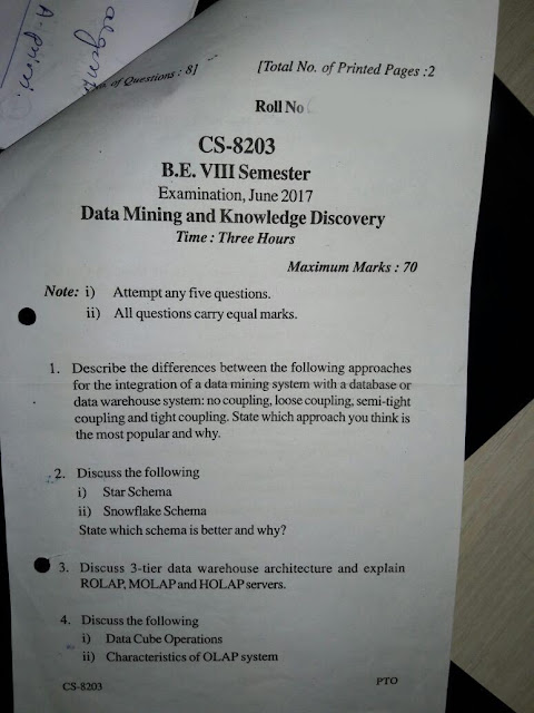 Data Mining and Knowledge Discovery Notes RGPV