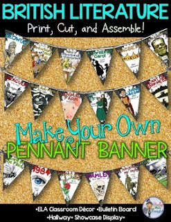 ELA Classroom Decor {British Literature}: Make Your Own Pennant Banner