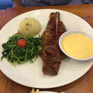 Australian Sirloin by Holycow with cheese sauce and smashed potatoes