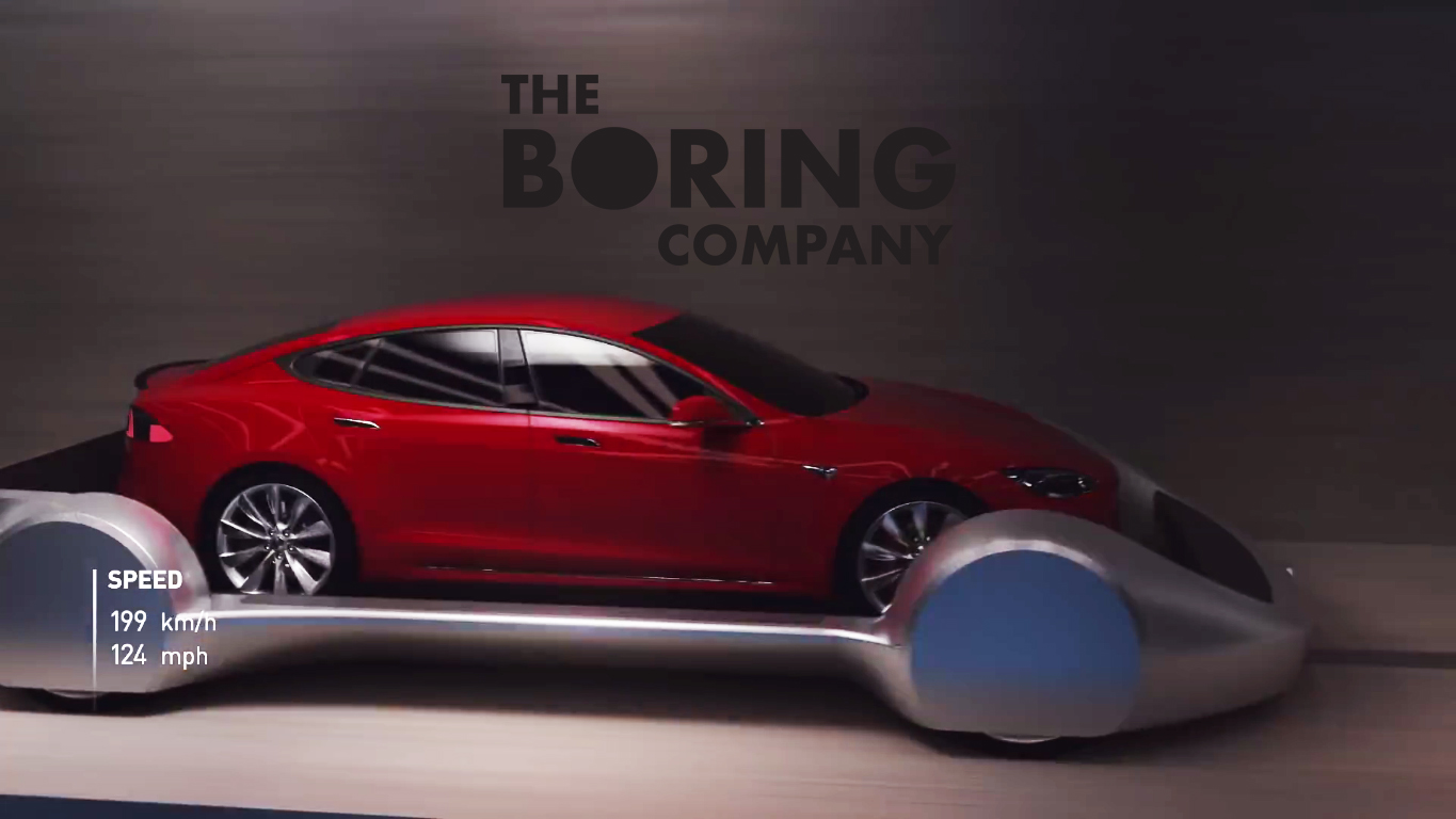 The Boring Company S Car Elevator