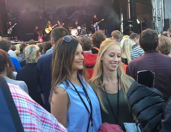 "Princess Sofia Hellqvist, Prince Daniel, Sara Hellqvist attended the concert of   ""A Walk in the Park"" at Kalmar Arena."