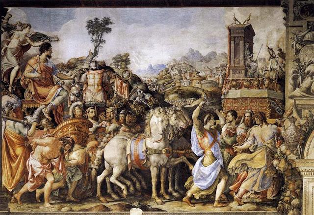 """Francesco de' Rossi (1510–1563): """"""""Triumph of Furius Camillus"""""""