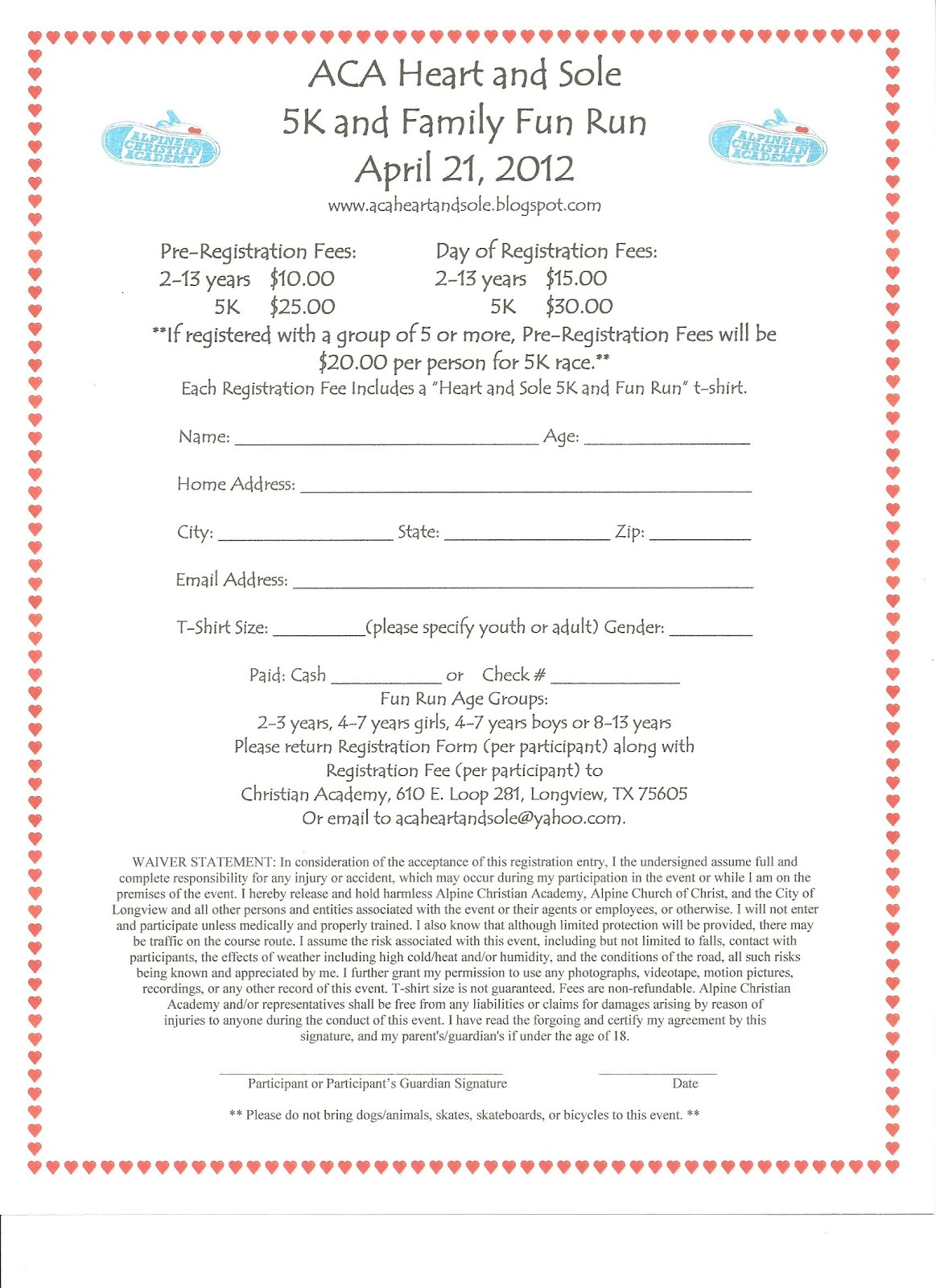 Registration open for casnr 5k fun run | unl parent email.