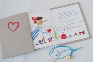 προσκλητηριο-βαπτιση-αγορι-χειροποιητο-τριπτυχο-παλια-παιχνιδια-καρδια-πινοκιο-γκρι-κοκκινο-μπλε