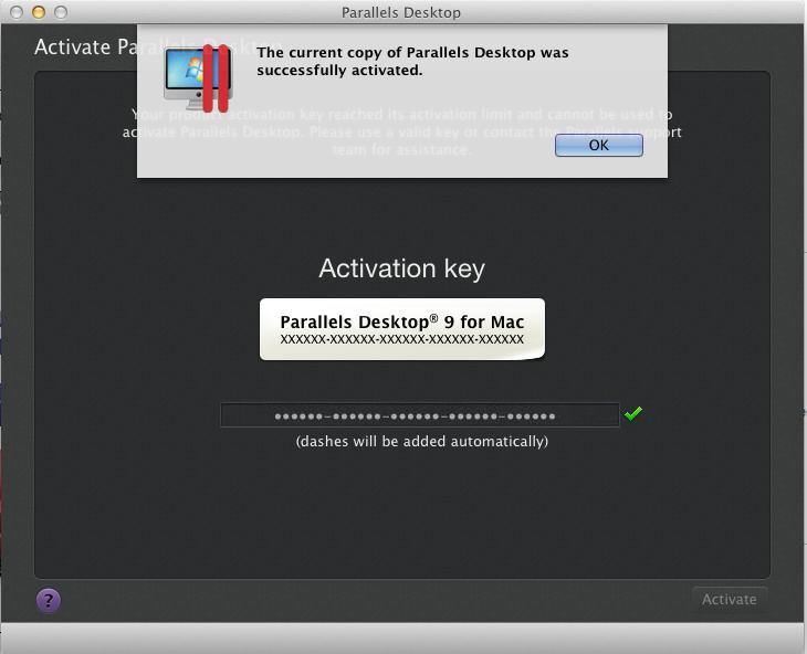 parallels 9 activation key