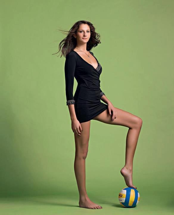 Tall girls volleyball