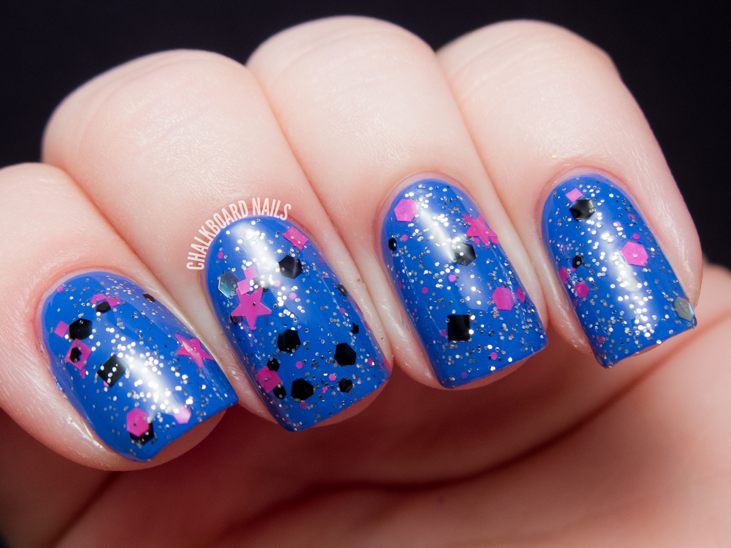 Chalkboard Nails: Starrily We're All Mad Here