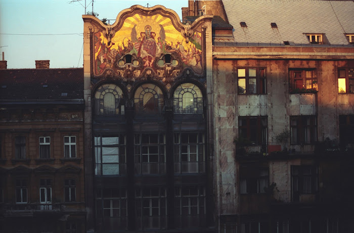 Budapest, Place Szervita anciennement Martinelli, © L. Gigout, 1990