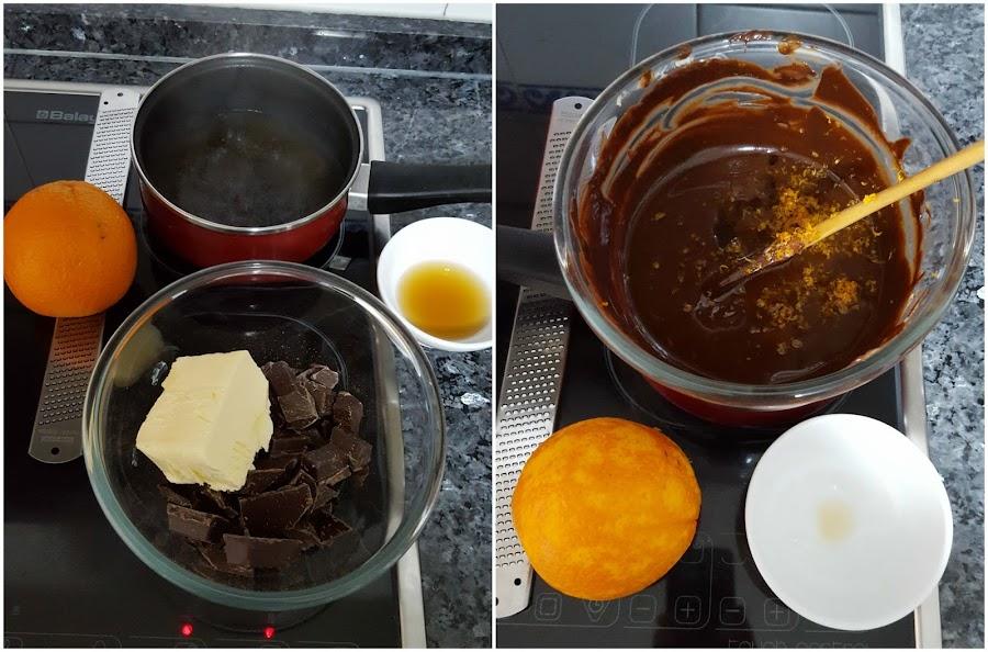 Paso a paso salchichon de chocolate