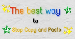 How to stop copy and paste and develope a good writing skills