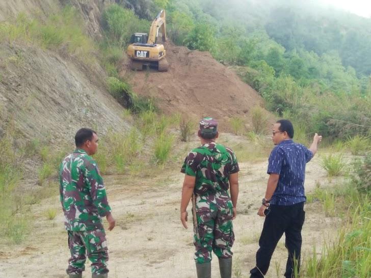 Pelaksanaan Pra TMMD ke 104 Hari ke enam, Rehap Jalan Capai 400 Meter