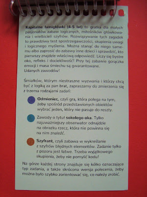 kapitalne łamigłówki, Kapitan Nauka, zagadki, zadania logiczne dla przedszkolaków