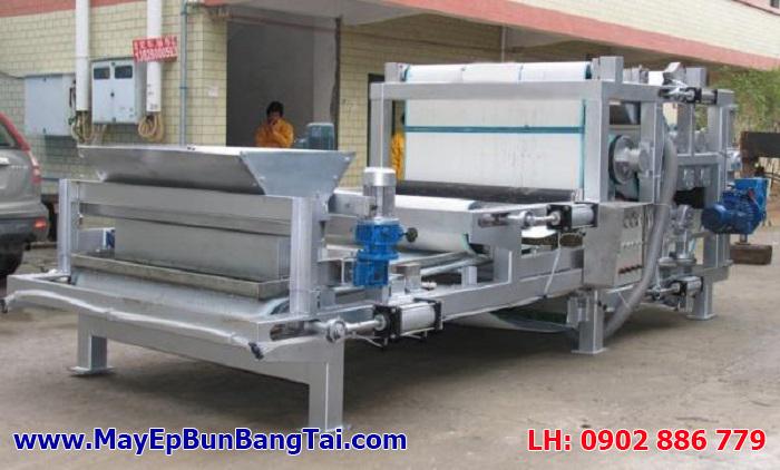 Máy ép bùn băng tải Đài Loan nhập khẩu chính hãng