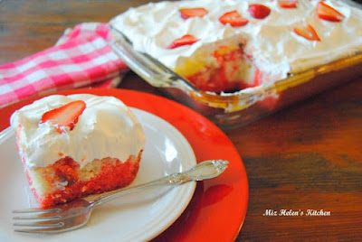 Strawberry Cream Cake at Miz Helen's Country Cottage.com