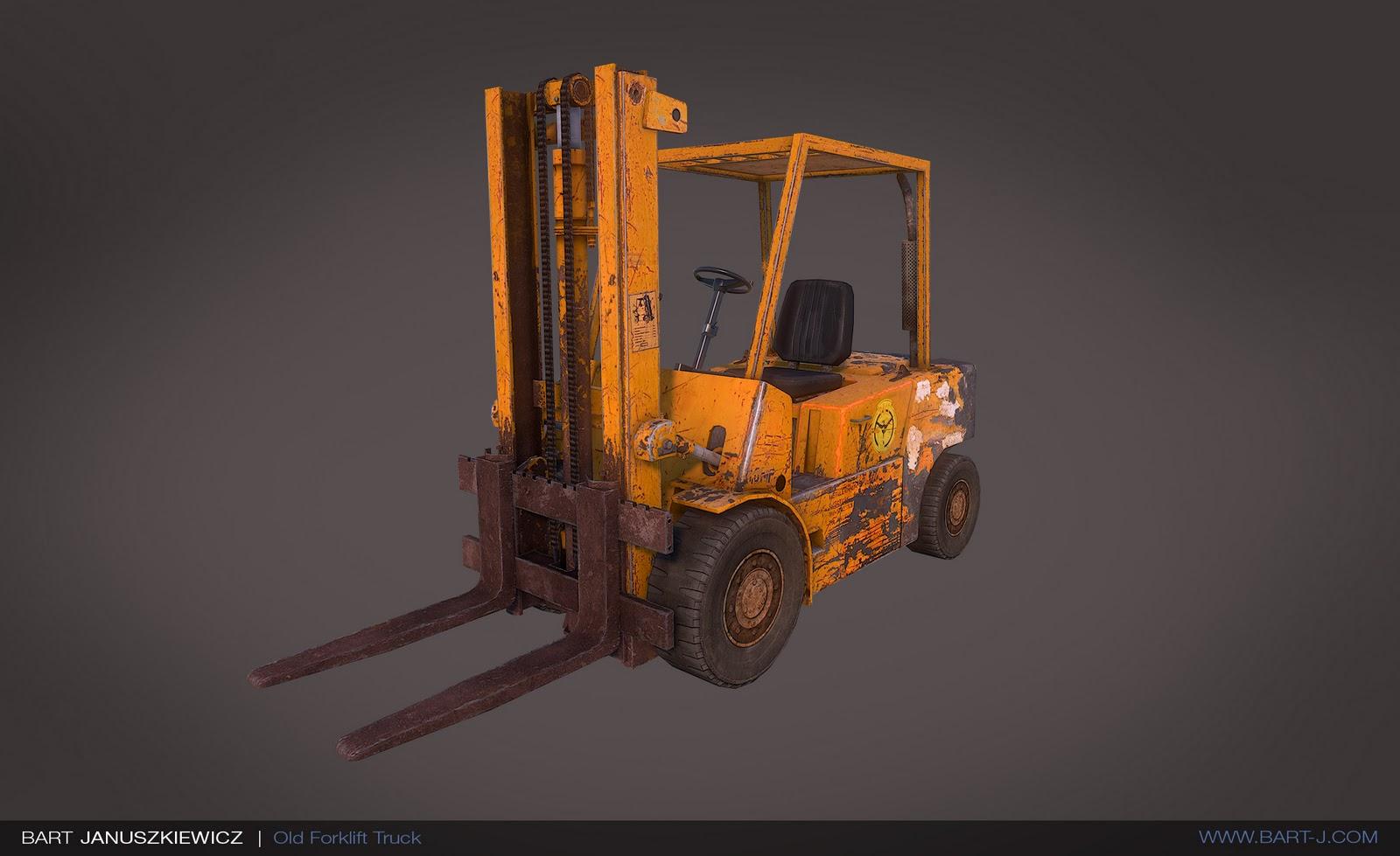 Three Dee Rage: Old Forklift Truck