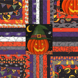 Moda PUMPKIN PARTY Halloween Quilt Fabric by Deb Strain