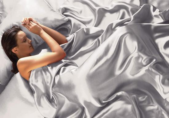 hình ảnh chất liệu vải Satin Silk Chăn gối đệm