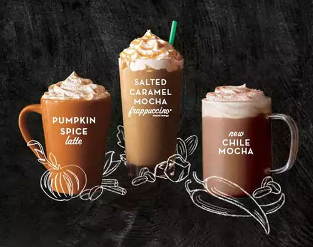 Fall Seasonal Coffee Drinks