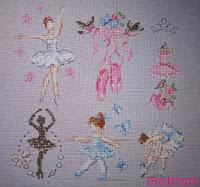 haft baletnica metryczka