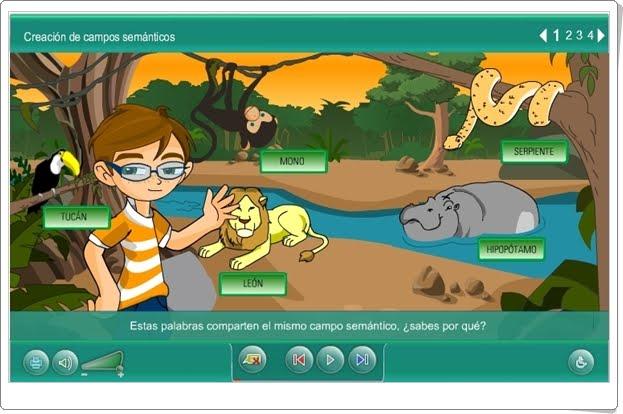 """Campos semánticos"" (Aplicación interactiva de Lengua española de Primaria)"