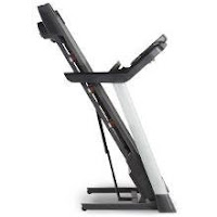 ProForm Pro 1000 Treadmill's SpaceSaver folding deck with EasyLift Assist
