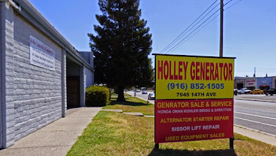 Holley Generator, Sacramento
