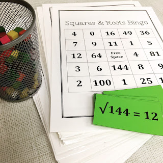 https://www.teacherspayteachers.com/Product/Squares-and-Square-Roots-Bingo-389267