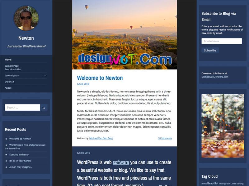 Newton No-nonsense Blogging-Theme