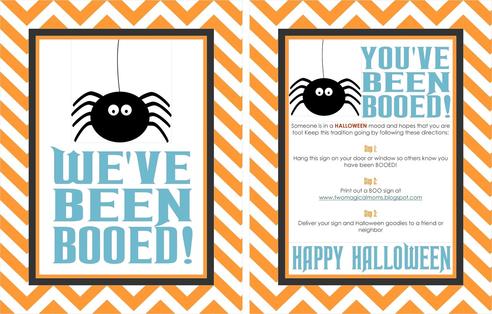 picture relating to You've Been Booed Printable Pdf titled 2 Magical Mothers: Halloween- Youve Been Booed!