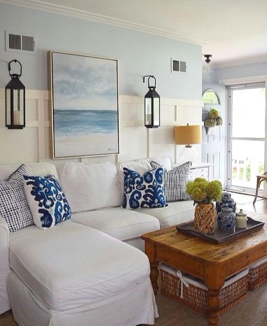 Coastal Living Room Makeover Ideas