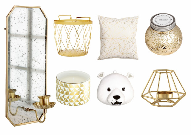 gold decor h&m home winter xmas christmas  collection