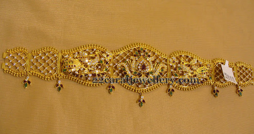 Very Thin Fancy Vaddanam Jewellery Designs