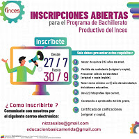 Inces Mérida se prepara para iniciar Bachillerato Productivo 2020-2021