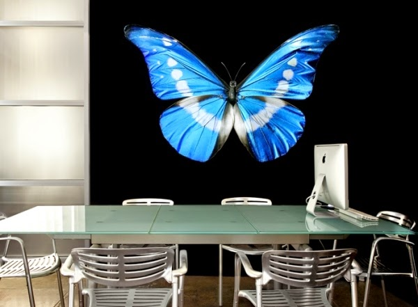 butterfly 3D wall art stickers, vinyl 3D wall stickers