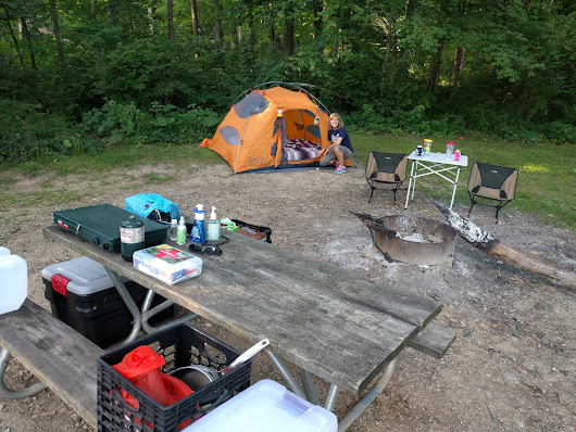 4th of July Camping at John Bryan State Park and Yellow Springs Ohio