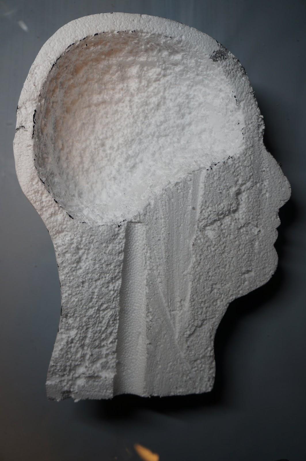 Ginger Wilson Styrofoam Head Art