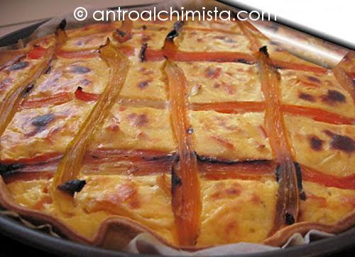 Torta Salata con Ricotta e Peperoni