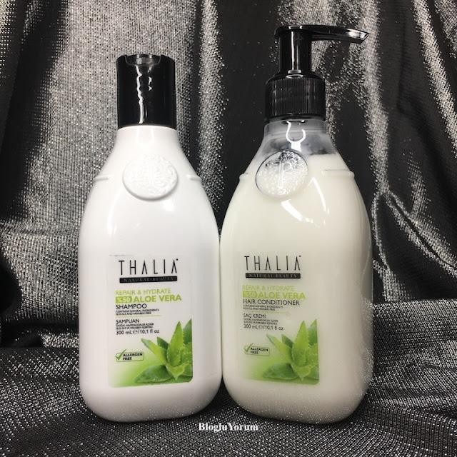 Thalia Natural Aloe Vera Onarıcı ve Nemlendirici Bakım Serisi saç ürünleri