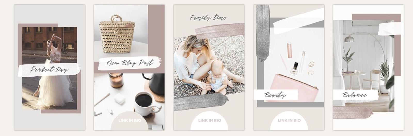 plantillas para instagram maternidad elegantes bonitas diseño en canva y photoshop
