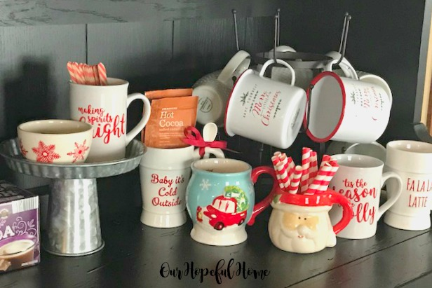making spirits bright mug tis the season to be jolly mug fa la la la latte mug