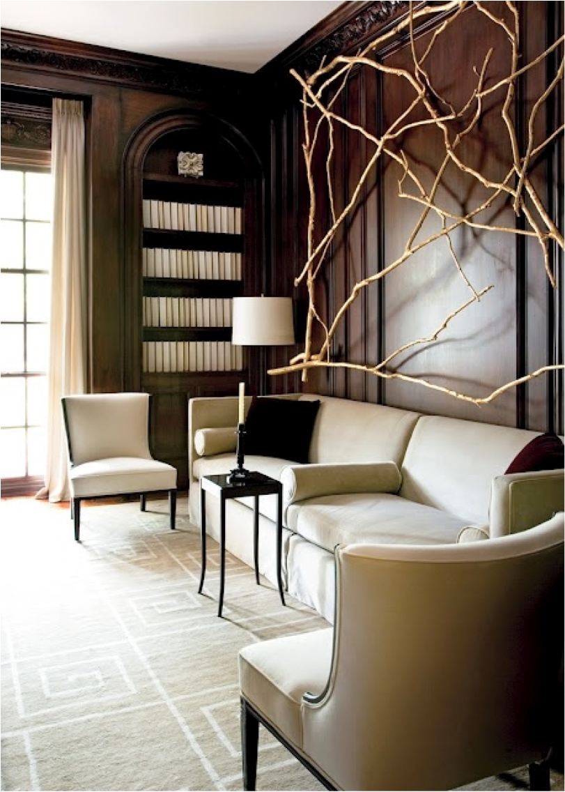 Wood Paneled Library: Let's Decorate Online: Creating A Relaxing Home Library