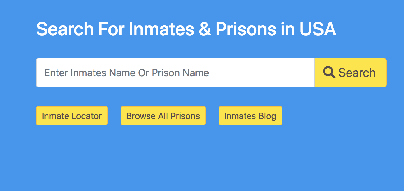 b402d46b8a713 We are happy to announce our launch. Mark the date 25th feb 2019 we are  here by launching our new website The Inmate Search.