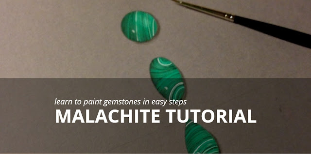 How to Paint malachite Gemstones by Edward Fleming