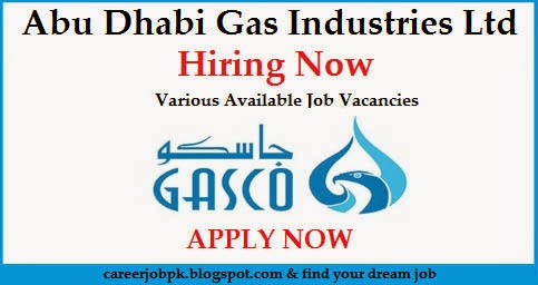 Gasco Abu Dhabi Gas Industries Ltd Jobs